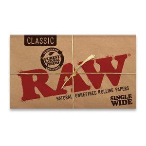 רו נייר גלגול קלאסי כפול - בינוני | RAW Classic Double Feed