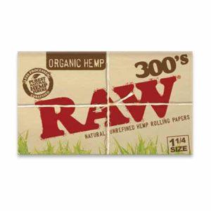 רו 300 דפי גלגול אורגניים | RAW Organic Hemp Creaseless