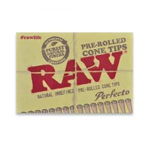 רו 21 פילטרים טבעיים מגולגלים | RAW Perfecto Pre-Rolled Cone Tips