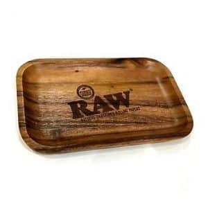 רו מגש גלגול עץ – קטן | RAW Wooden Tray