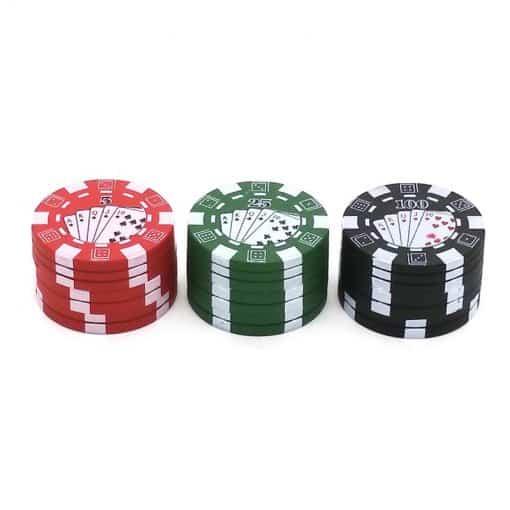 גריינדר פוקר 3 שלבים   Poker Grinder 40mm