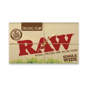 רו נייר גלגול כפול עשוי מהמפ אורגני | RAW Organic Hemp Double Feed