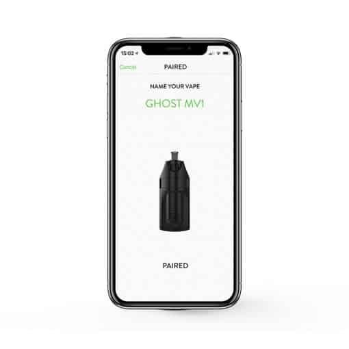 וופורייזר גוסט Ghost Vaporizer MV1 אפליקציה