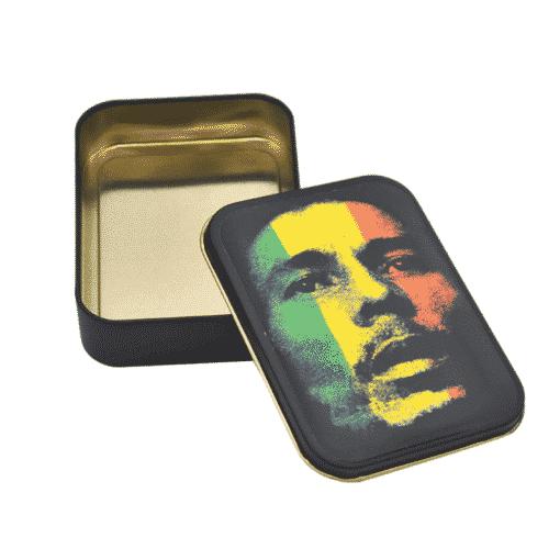 קופסאת אחסון ממתכת - בוב מארלי | Metal Box Bob Marly