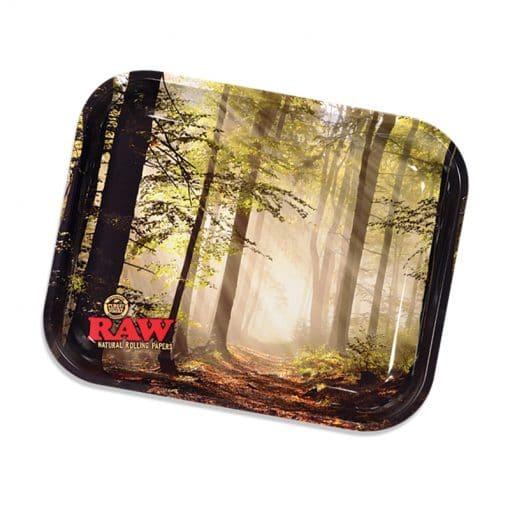 מגש רו גדול - יער | RAW Smokey Forest Rolling Tray