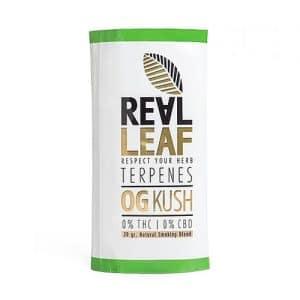 תחליף טבק ריליף טרפנים מזן או-ג'י קוש | RealLeaf Og Kush Herbal blend